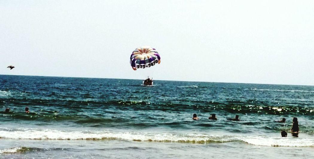 Waves, Ocean, Nature Oceanlife Ocean View Watching Waves Parasailing Sandy Beach