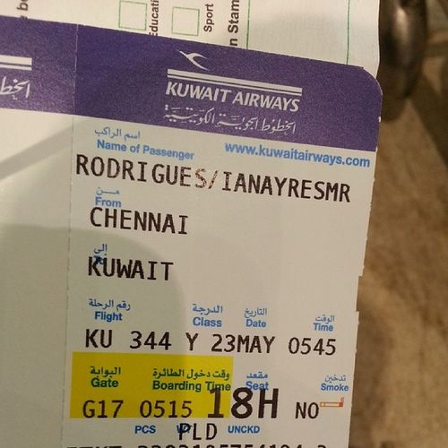 KuwaitAirways Backfromvacation Kuwait Q8 Flight Chennai India Gonnamissu HighTimes Boom