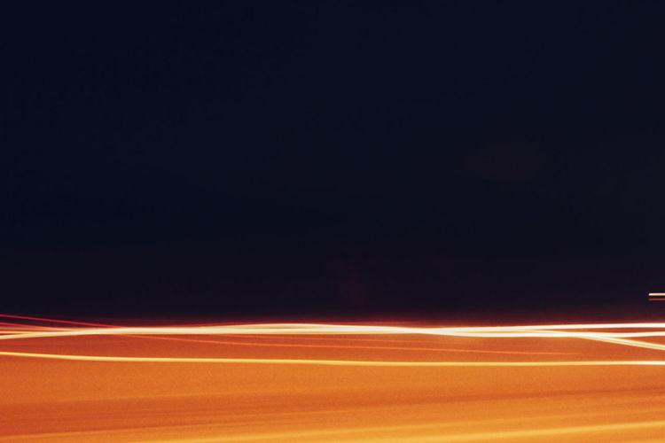 View of illuminated blurred lights