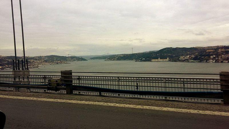Showcase: December Istanbul City Turkey Bosphorus On The Way On The Bridge In The Car