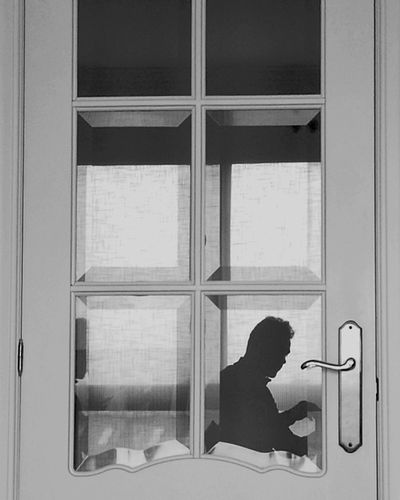 Inside Outside Myself Window Indoors  Door People Adult Adults Only