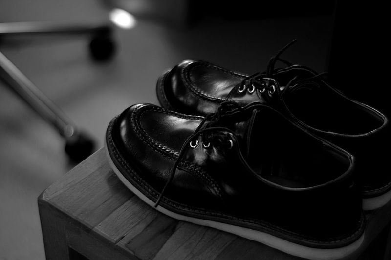 Bw Focus On Foreground Indoors  Close-up Leather Shoe Still Life No People Fashion Black Color Personal Accessory Arts Culture And Entertainment Metal Wealth Shoelace Clothing Textile Table Jewelry Luxury