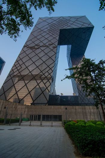 Different angle on the striking building of China Central Television CCTV in Beijing Building Buildings Cctv China Beijing Architecture China Central Television Tower China Central Television Building Tower No People City Sightseeing Travel Destinations