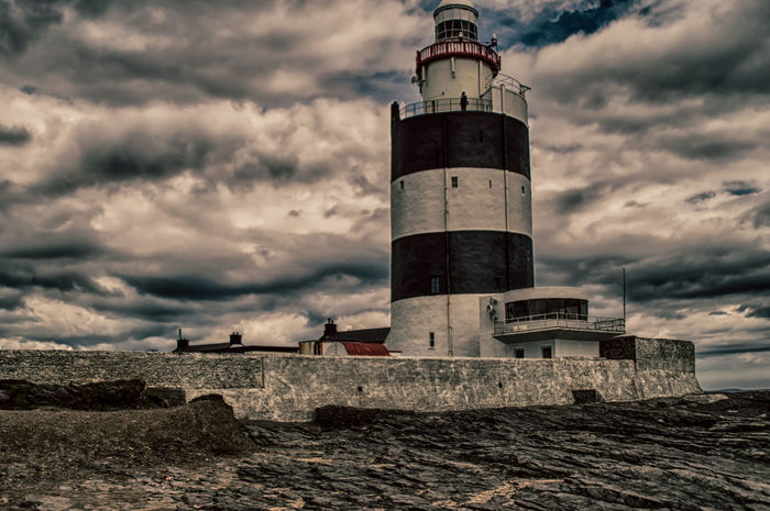 Architecture Beach Built Structure Cloud Cloud - Sky Cloudy Hdr_Collection Hook Head, Ireland Hook Lighthouse Ireland Ireland🍀 Lighthouse Nature Safety Sea Shore Sky Tower Water Weather Wexford