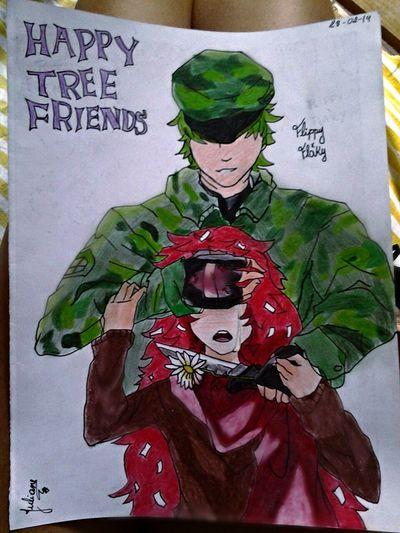 HappyTreeFriends I Love It ❤ Flakyxflippy My Draw ♥