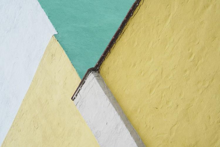 High angle view of wall