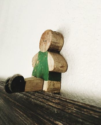 Wood - Material Close-up Green Green Color Green Green Green!  Toy Old-fashioned Old Doll Green Toy Green Wood Toy