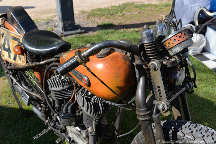Harley Davidson Moto Old Motorbike Old Motorcycle Engine Orange Retro V