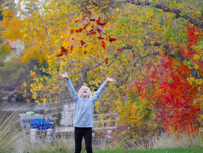 Be. Ready. Mother Nature's Confetti Fall Leaves Celebrate Life Autumn Leaves Child Childhood Playfulness Enjoy Nature Simple Pleasures Outdoors Fun Autumn Mood