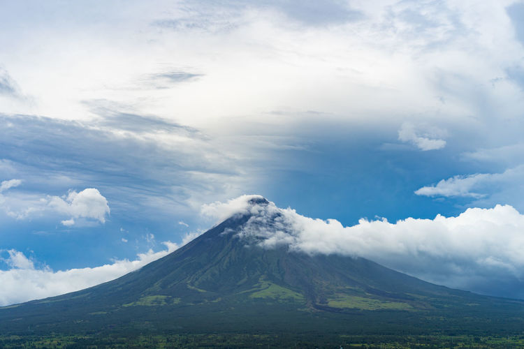 perfect cone shape Mayon volcano Beauty In Nature Cloud - Sky Cone Day Landscape Mayon Mayon Volcano Mountain Nature No People Outdoors Philippines Scenics Sky Smoke Tranquil Scene Tranquility Volcano