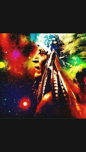 I wish i did this... Red Indian The Universe I Love This Pic Vibrant Colors Shamanic Journey Make Love Not War Peace ✌