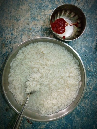 Kanji and achar Kanji Food And Drink No People Food Ready-to-eat Day Breakfast Rice Soup Pickle