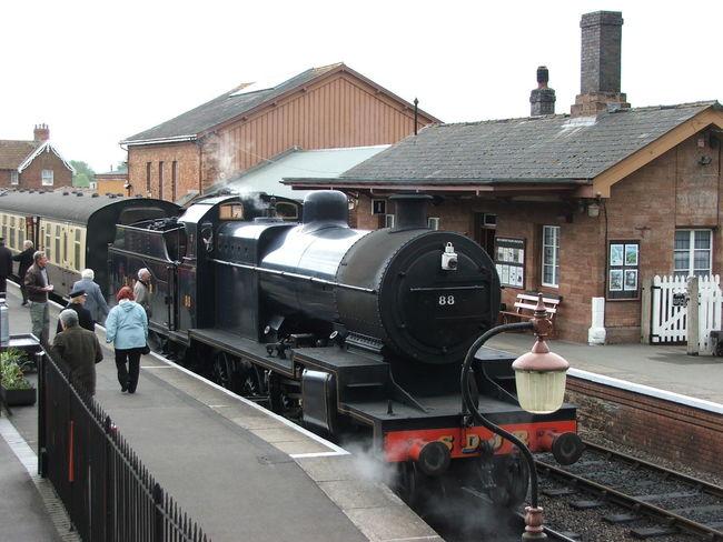 Transportation Summer Memories 🌄 North Somerset Railway Uk Steam Engine Platform Station
