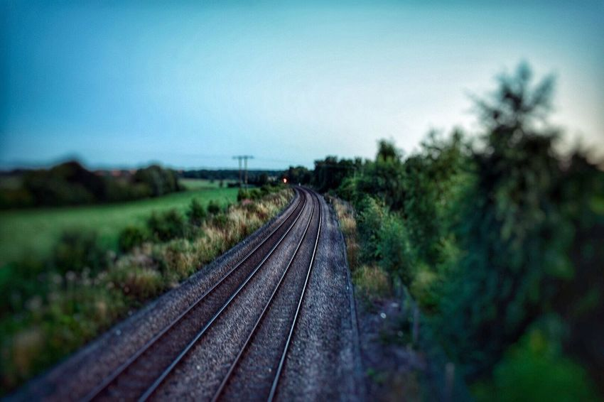 Railroad Track Transportation Nature Landscape Sky Outdoors No People