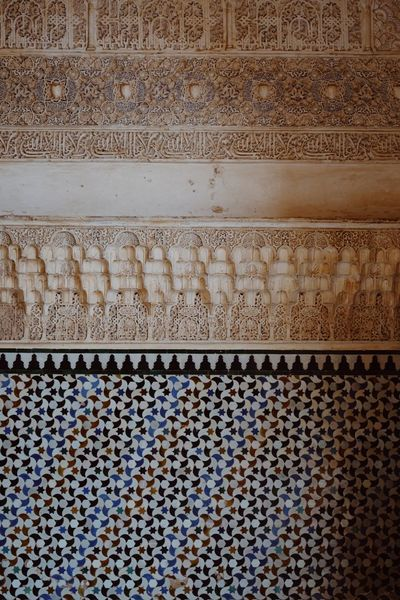 Roadtrip around Andalusia/Spain. 2nd Stop: Granada Pattern No People Full Frame Backgrounds Architecture Textured  Built Structure Creativity Close-up Wall Wall - Building Feature Floral Pattern Pattern, Texture, Shape And Form Travel Travel Destinations Architectural Detail Architectural Feature