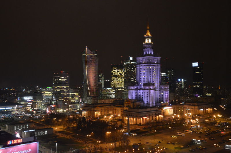 Warsaw Warsaw Nights Palace Of Culture Poland First Eyeem Photo