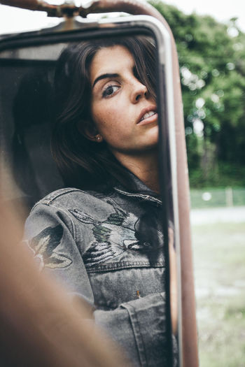 The Portraitist - 2017 EyeEm Awards One Person One Woman Only Only Women Looking Through Window Window Adults Only Adult People Front View Portrait One Young Woman Only Beautiful Woman Young Adult Young Women Leisure Activity Beauty Human Body Part Day Outdoors Close-up Beautiful People One Girl Only Long Hair Adult