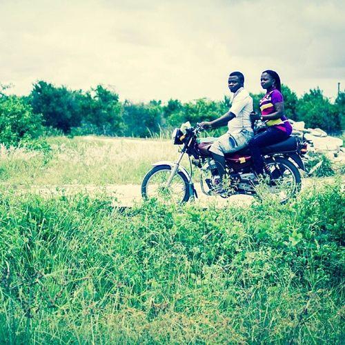 Near Lekki in Lagos . Loved how the colourful Okada just pops up in Green ! Nigeria naija africa bike streetphotography snapitoga