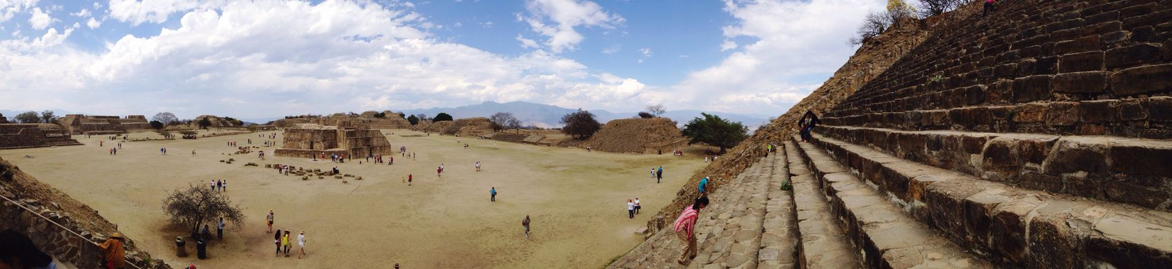 MonteAlban Oaxaca México  ArcheologicSite Panoramic