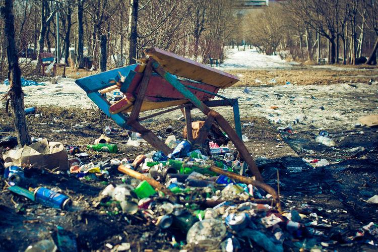 Garbage in park