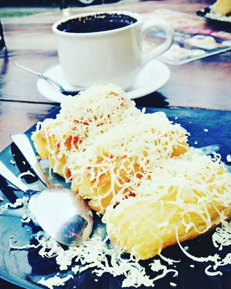 Show Us Your Takeaway! fried cassava & a cup coffee Cassava Coffee