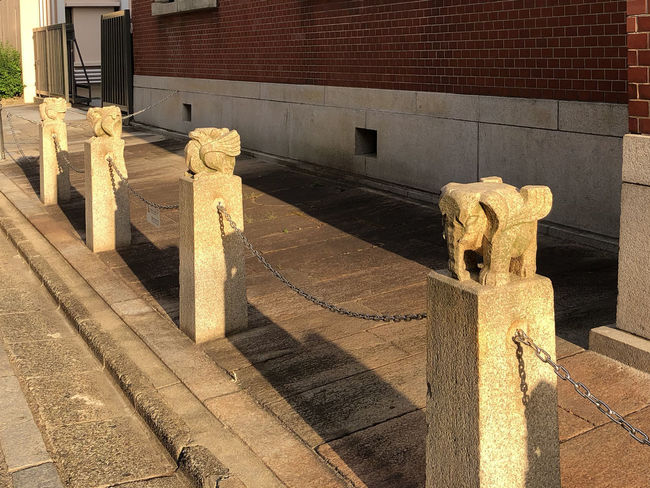 Imaginary Animals Architecture Art And Craft Building Exterior Kyoto No People Sculpture Stone Material
