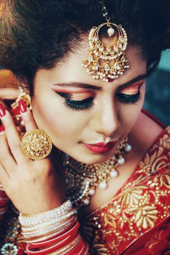 High Angle View Of Bride