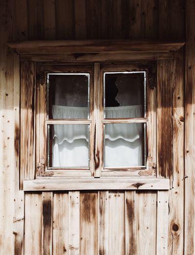 Old window of abandoned house