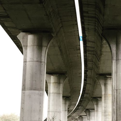 Bridge - Man Made Structure Connection Architecture Engineering Below Architectural Column Built Structure Transportation Underneath Low Angle View No People Under Day Outdoors