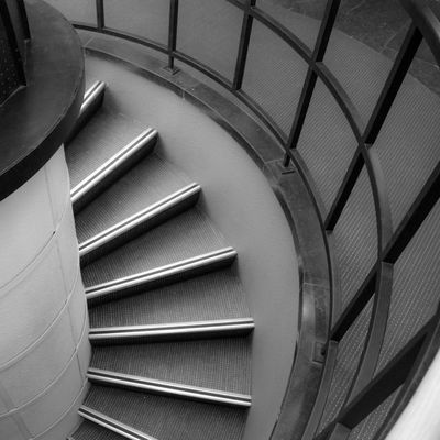 Curves Architectural Feature Architecture Bannister Diminishing Perspective High Angle View In A Row Indoors  Monochrome Photography No People Railing Repetition Staircase Steps Steps And Staircases The Way Forward Urban Geometry Urban Lines Beautifully Organized Sometimesthereissomuchbeautyintheworld Fine Art Photography Minimalist Architecture The City Light Minimalz The Secret Spaces Art Is Everywhere The Architect - 2017 EyeEm Awards Black And White Friday The Graphic City