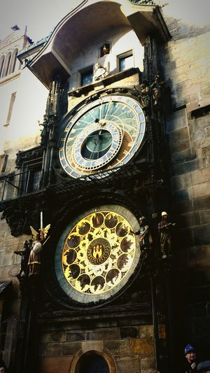 The Prague Astronomical Clock in Old Town Square. The oldest mechanical parts were assembled in 1410. EyeEm Gallery Eyemphotography Travel Photography Viking River Cruises Prague Czech Republic Praguedowntown Praguelife Pragueoldtown Clock Tower Photooftheday Creative World Round The World Mechanical Art