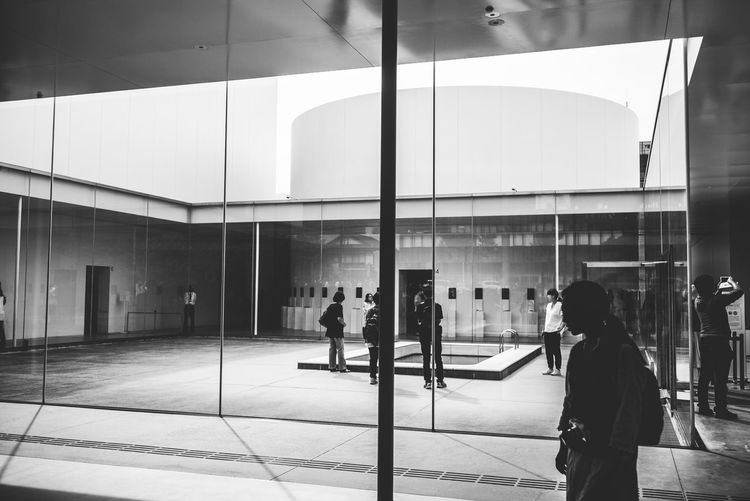 Japan Minimalist Adult Architecture Arts Culture And Entertainment Blackandwhite Building Exterior Built Structure City Day Glass - Material Group Of People Kanazawa Leisure Activity Lifestyles Men Minimalism Modern Museum Nature Outdoors People Real People Reflection Standing Sunlight Waiting Walking Women