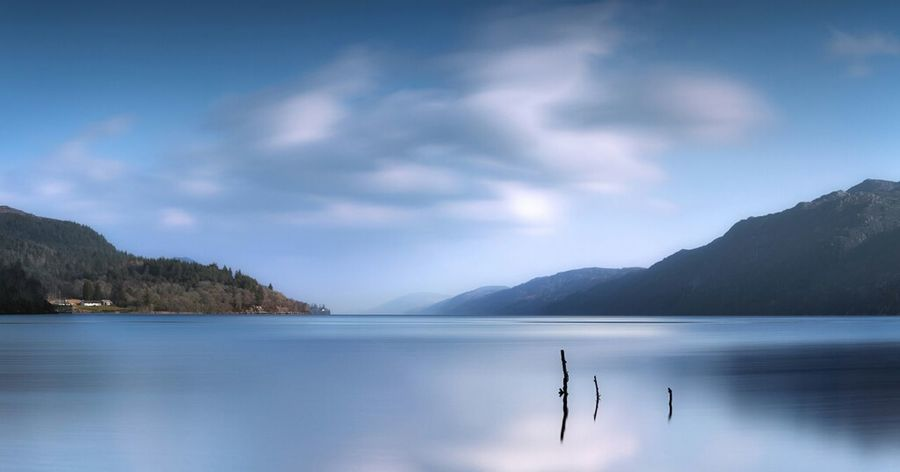 Nature Sky Landscape Blue Sky Panorama Clouds And Sky Scotland Nessun Flash Landscapes Scenic Loch  Ness Nature_collection Landscape_Collection Nessie