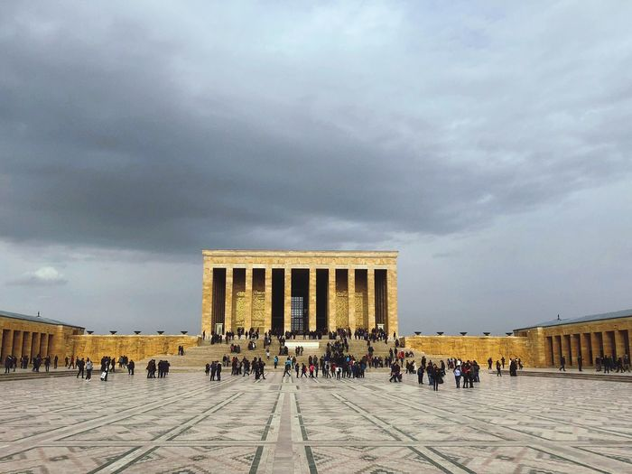 Anitkabir Museum Clouds And Sky City History Memorial