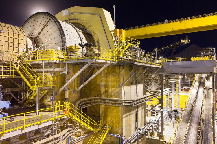 Illuminated industry at night