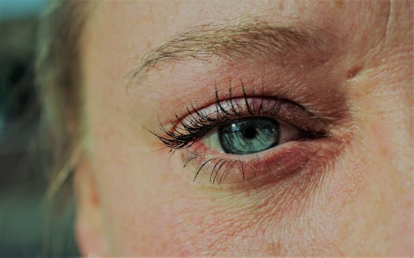 Eye Human Eye Human Body Part Eye Sensory Perception Body Part Eyelash Eyesight Women Portrait Skin Real People One Person Eyelid