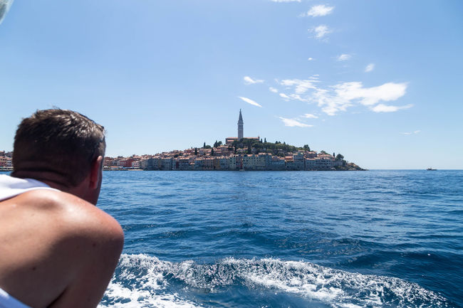 Rovinj... Coastline Croatia Holiday Holidays Rovinj Rovinj City Rovinj Croatia Tourist Architecture Building Exterior Built Structure City Coastal Coastal Town Croatian Town Day Leisure Activity Lifestyles Sea Sky Tourism Travel Vacation Visit Croatia Water