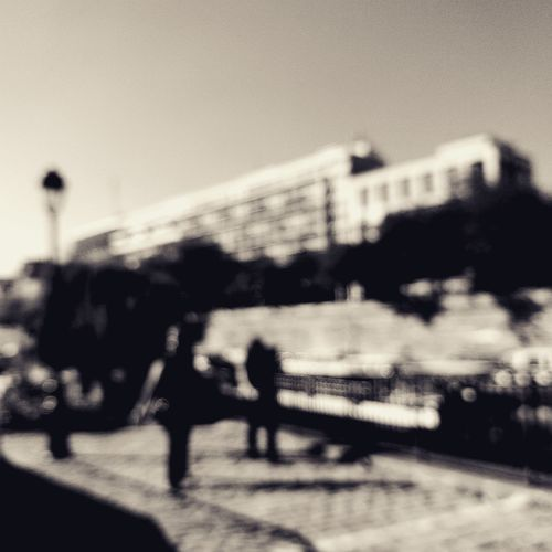 City Transportation Road Outdoors Day People Defocused Sky One Person EyeEm Selects City Paris Autumn Black And White Blackandwhite Shootermag TheMinimals (less Edit Juxt Photography) Shootermag_france Black & White Architecture France Cityscape Building Exterior One Woman Only
