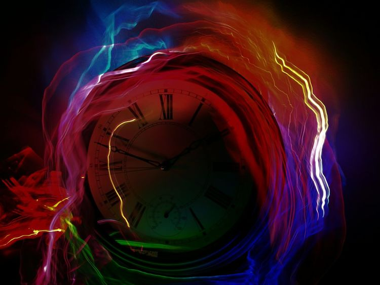 Home Studio Creativity Art Clock Drawing With Light Light Drawing Light Painting Time Time Based Photography Long Exposure darkness and light Indoors  No People