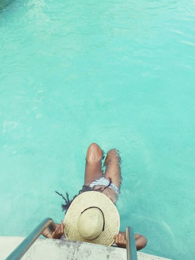 I really didnt wanna leave 😢😢 St.lucia Cocopalm Resort Caribbean Pool Time Tourist Hat Rastawoman