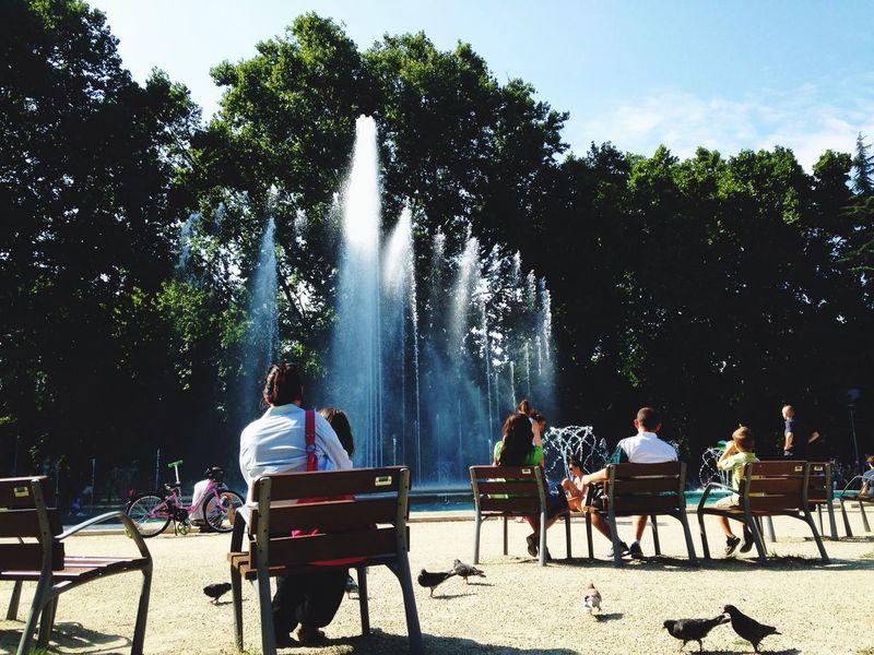 Chilling Margaret Island Budapest Fountain