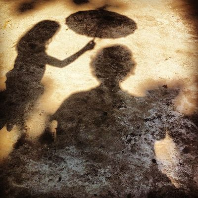 SS trying to cover my shadow from summer heat. Ss Js Home Yard Play Sun Shadow Umbrella Chaktai Chottogram Instagram