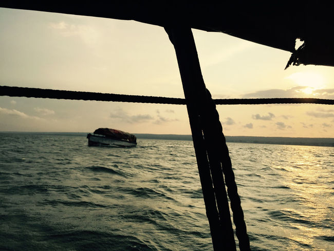Africa Beauty In Nature Horizon Over Water Horizontal Inhambane Mozambique Nature Nautical Vessel No People Outdoors Sea Sky Sunset Tranquility Transportation Water