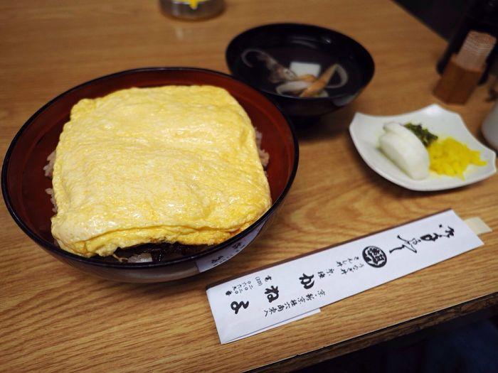 Kyoto Japan Sanjyo Kaneyo Eel Egg Lunch Food Delicious Olympus PEN-F 京都 日本 三条付近 かねよ 鰻 卵焼き きんし丼 ご飯