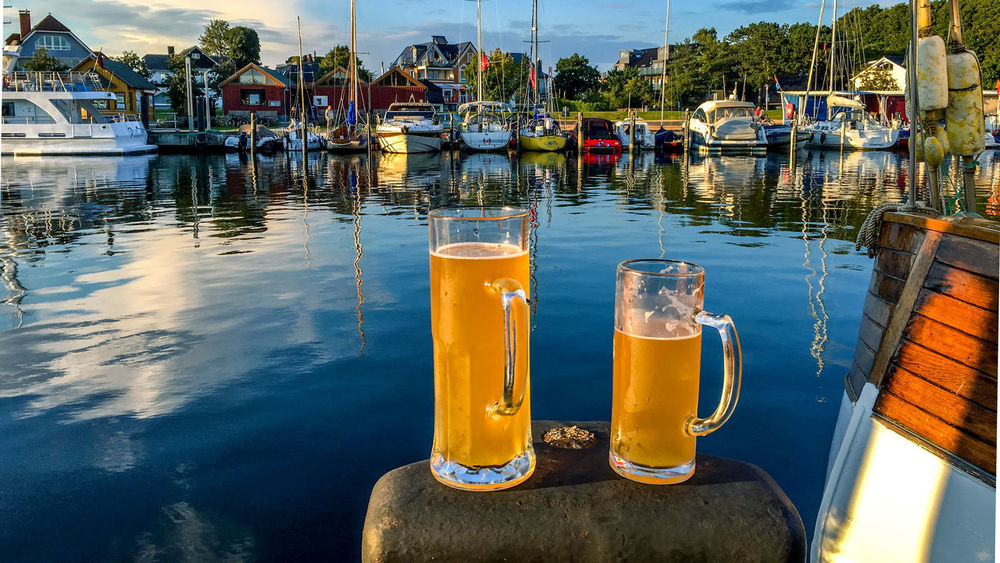 Beer Beer Glass Close-up Day Harbor Mode Of Transport Moored Nature Nautical Vessel No People Outdoors Reflection Sky Transportation Water