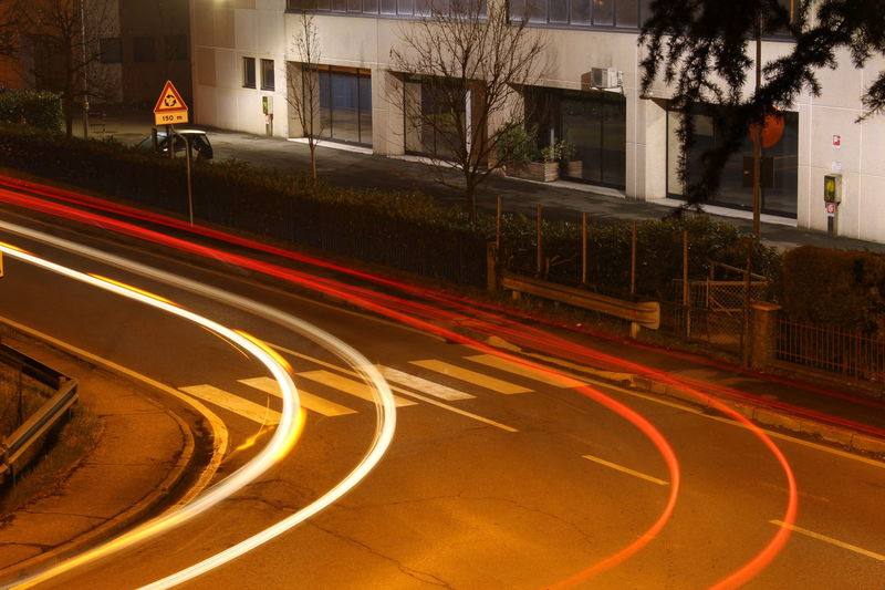 Street Lights. City City Life City Street Illuminated Light Trail Long Exposure Motion Multi Colored Night Outdoors Photography In Motion Road Speed Street Street Light Battle Of The Cities The Color Of Technology Overnight Success