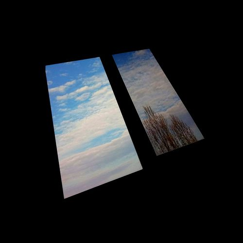 sky monoliths are heading through space Monolith Kubrick Inspired Space Odyssey Black Background Window Sky Close-up