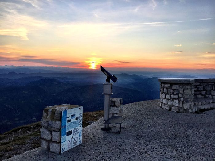 Summit of Mountventoux at dawn France Provence