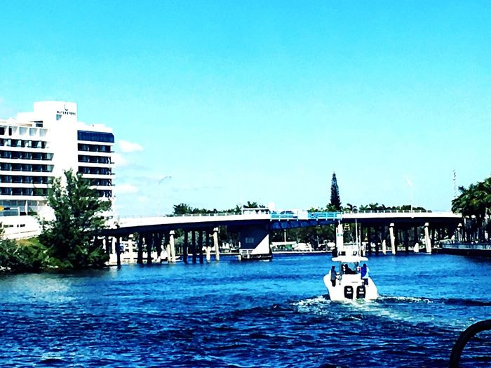 Friday On My Mind Tropical Boating Inlet Waterway Bluesky February Blue Wave
