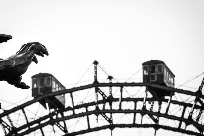 Wintertime in Vienna. ANGST Blackandwhite Blackandwhite Photography Cafe Death Droschke Geister Geisterbahn Ghost Grusel History Kirmes Melange Cafe Monster Morbid Pferd Pferdekutsche Prater Prater/Vienna Riesenrad Vienna Wheel Wien Österreich